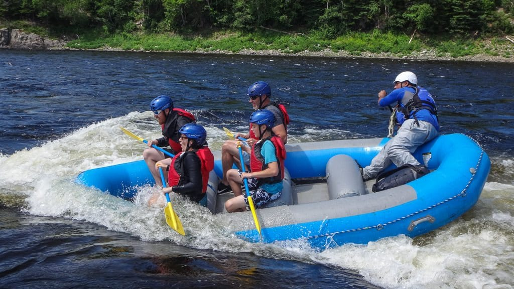 Surfing the waves of the Exploits River