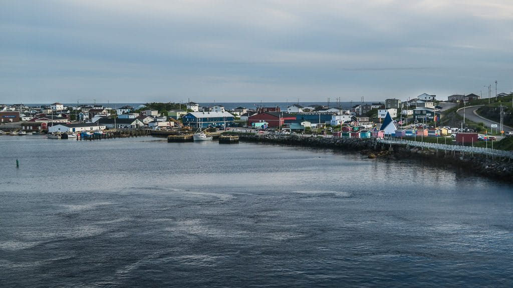 Little port town of Port aux Basques in Newfoundland the day we arrived with beautiful weather