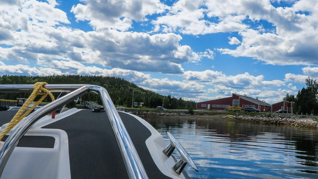 View of Terra Nova Visitor's Center from the boat