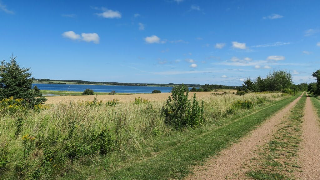 Part of the wide and flat Confederation Trail in PEI