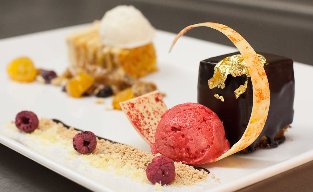 24k Choclate Bar Dessert that is offered at Timberline Grill