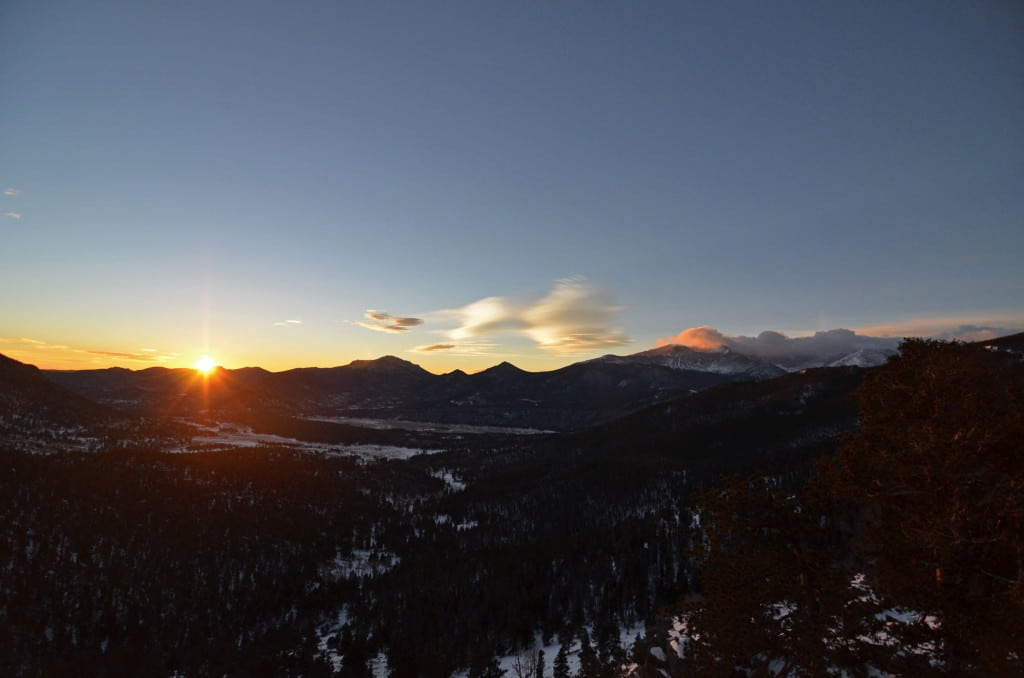 Sunrise in Rocky Mountain National Park at Many Parks Curve