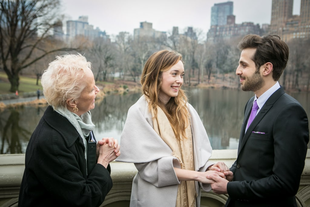 Photo 9 Justin and Kylie Bow bridge wedding in Central Park