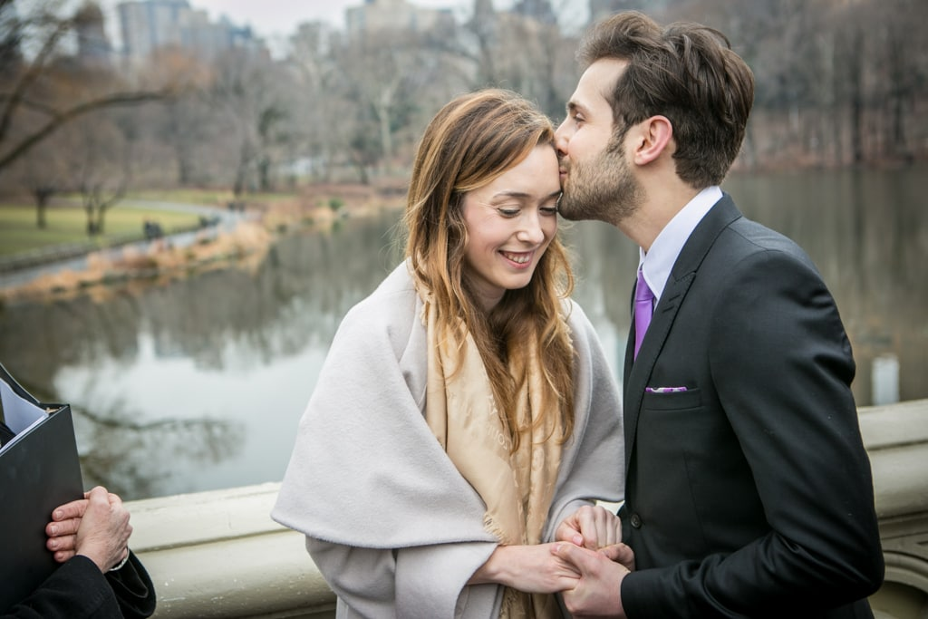 Photo 11 Justin and Kylie Bow bridge wedding in Central Park