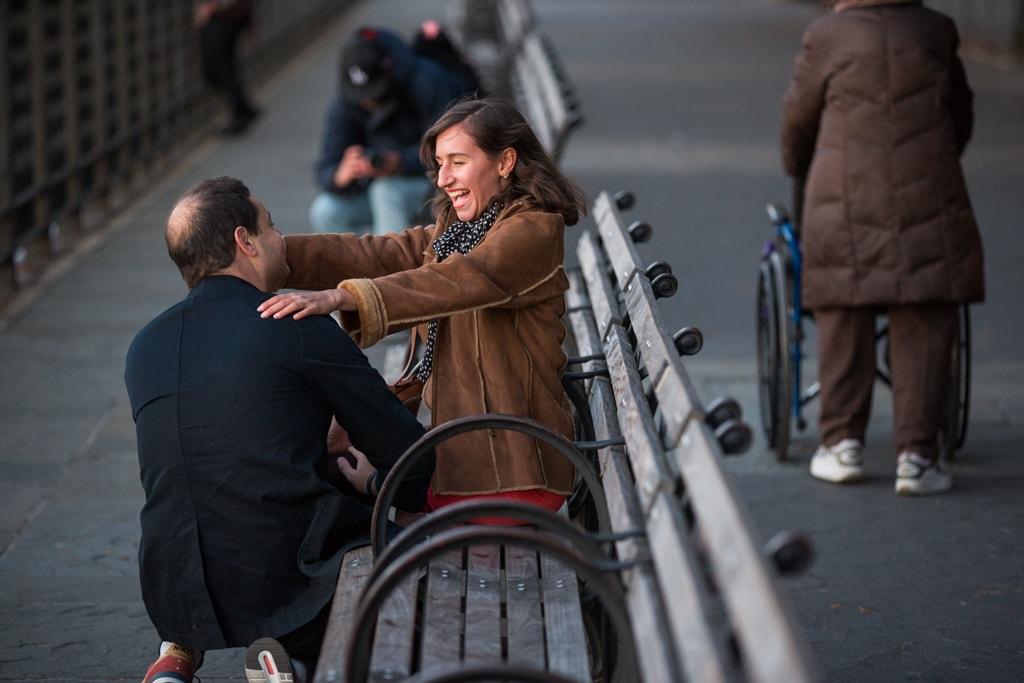 Photo 2 Brooklyn Promenade marriage proposal. | VladLeto