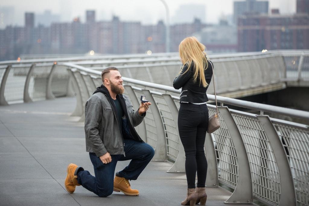 Photo 5 Greenpoint Brooklyn marriage proposal at secret spot. | VladLeto
