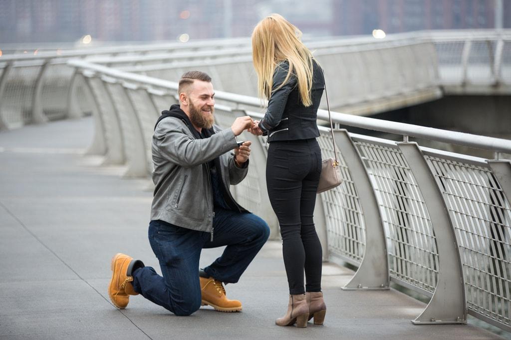 Photo 6 Greenpoint Brooklyn marriage proposal at secret spot. | VladLeto