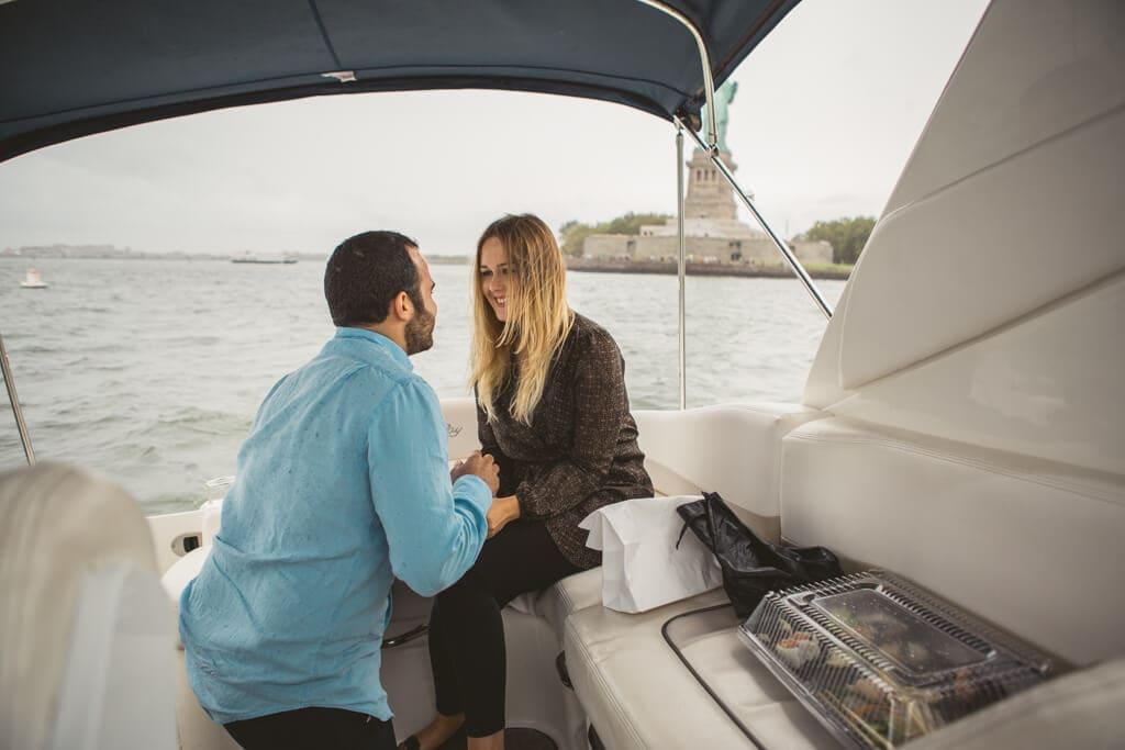 Photo 4 Statue of Liberty boat proposal. | VladLeto