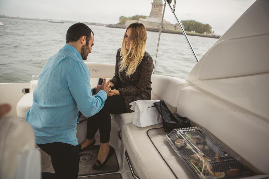 Photo 5 Statue of Liberty boat proposal. | VladLeto