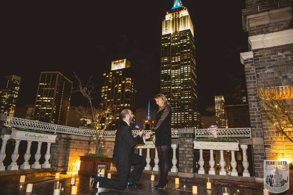 Photo Private Rooftop Proposal with Empire State Building view. | VladLeto
