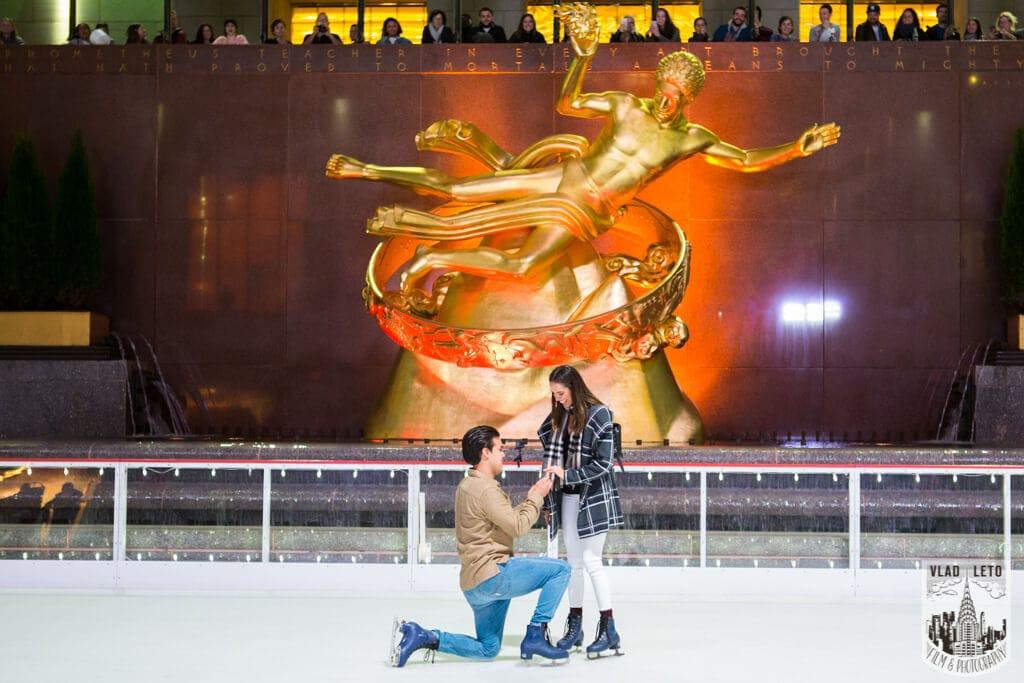 Photo 2 Engagement on Ice. Rockefeller Center Ice Skating Rink. | VladLeto