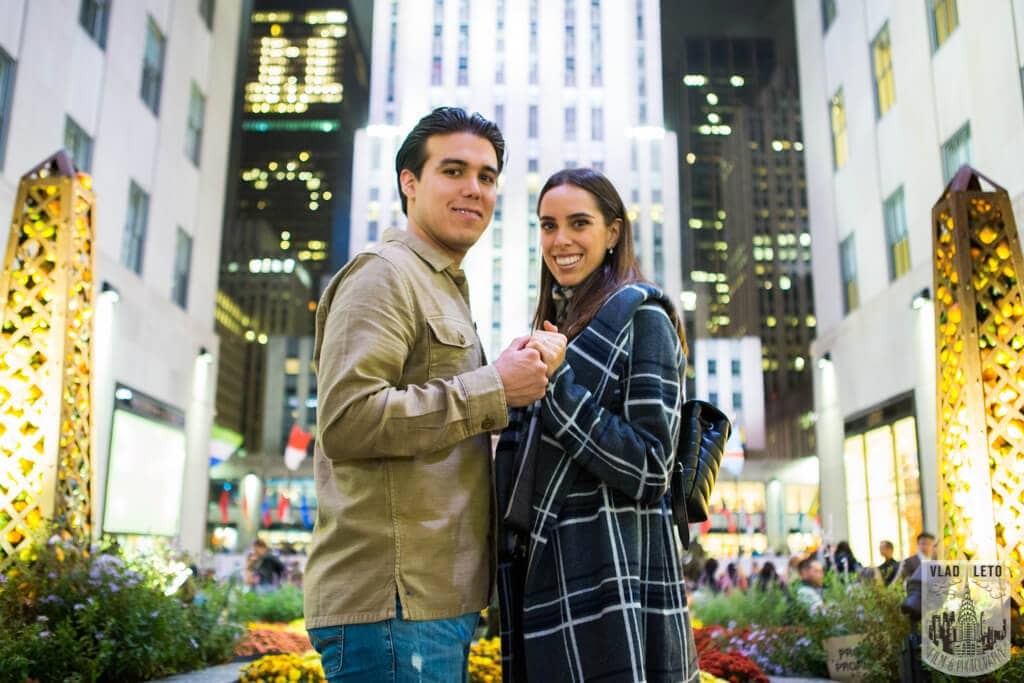 Rockefeller Center Marriage proposal photo