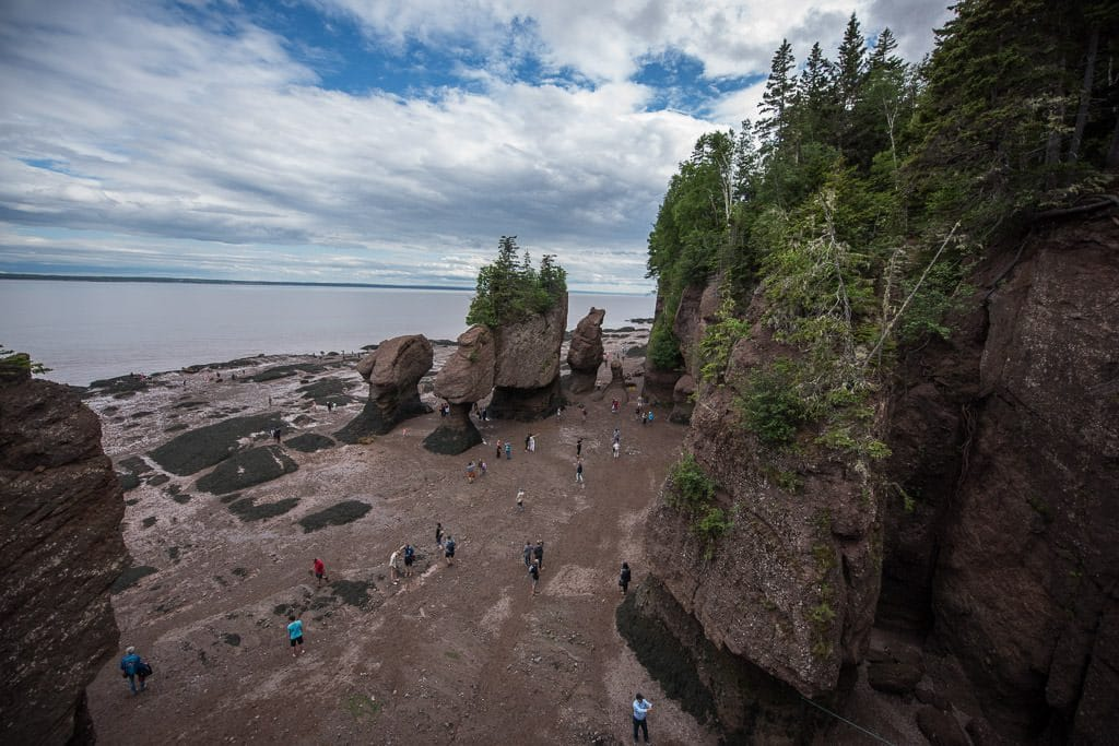 Low tide at Hopewell Rocks in New Brunswick Canada