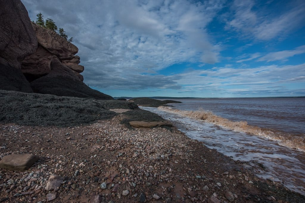 Some of the shore line at hopewell rocks in new brunswick Canada