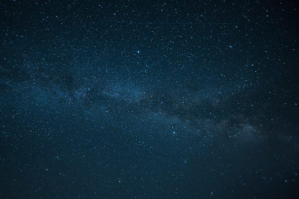 The milky way galaxy as seen in kejimkujik national park
