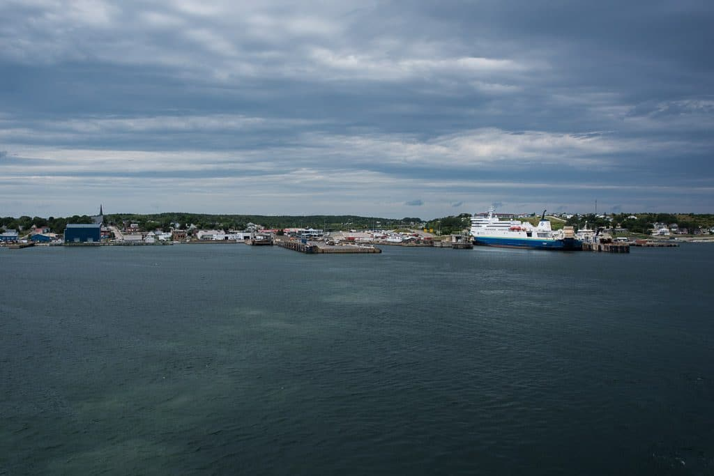Leaving Port aux Basques in Newfoundland on the Marine Atlantic Ferry headed for Nova Scotia