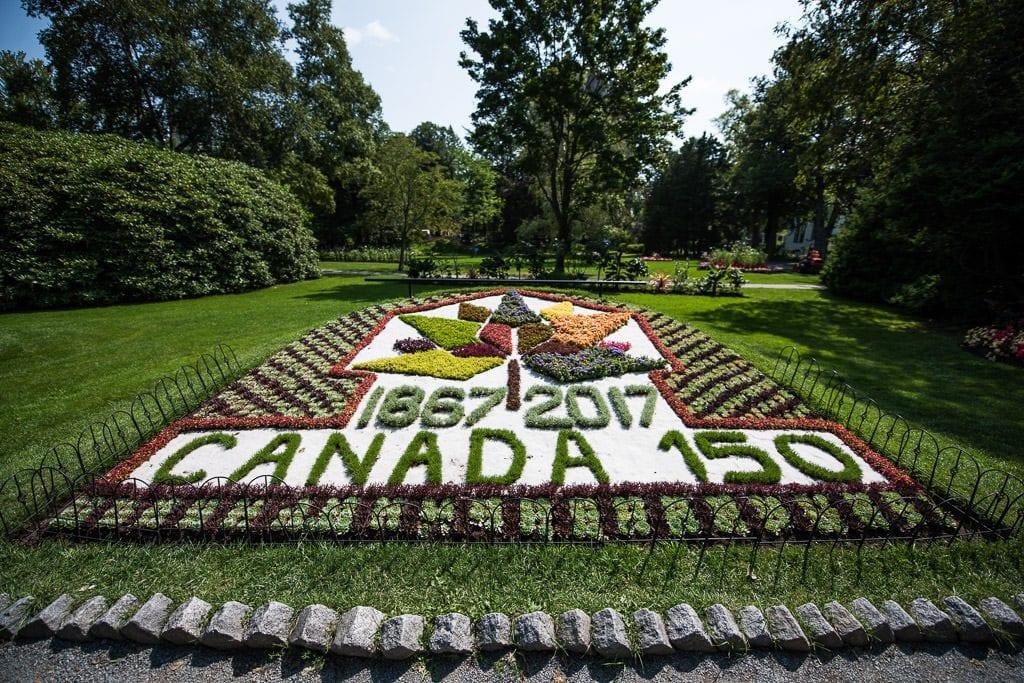 Canada 150 planter garden in Halifax