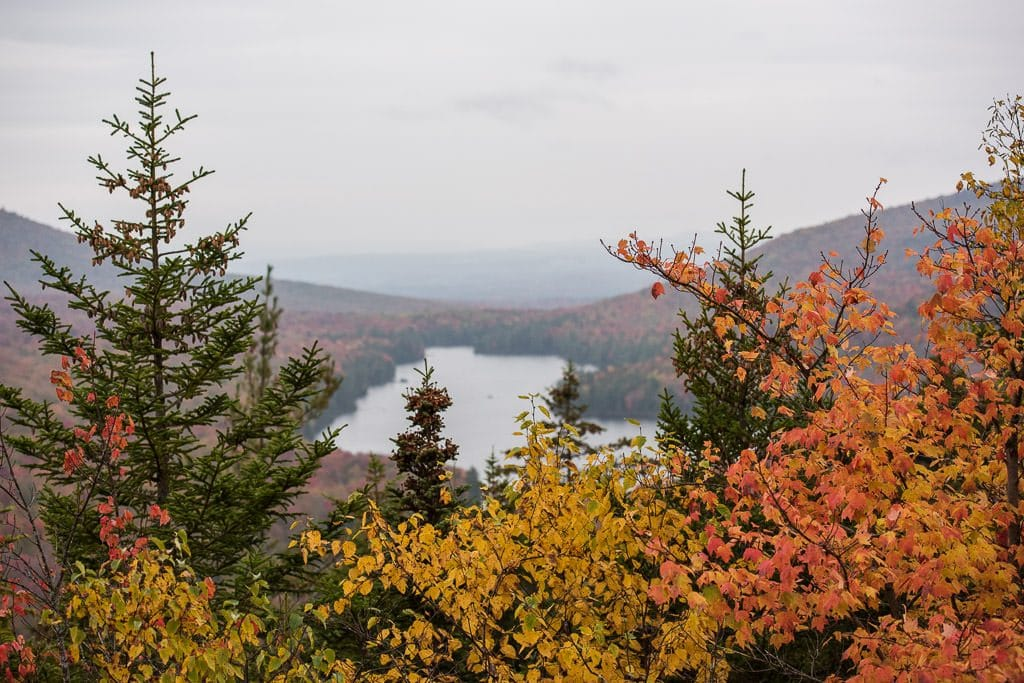 View of all the colorful foliage in Vermont from Owl's Head Overlook