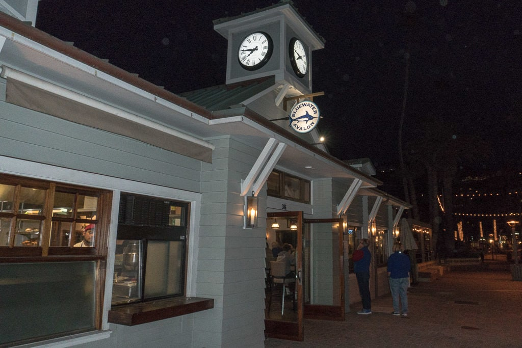 Outside of Bluewater Grill in Avalon