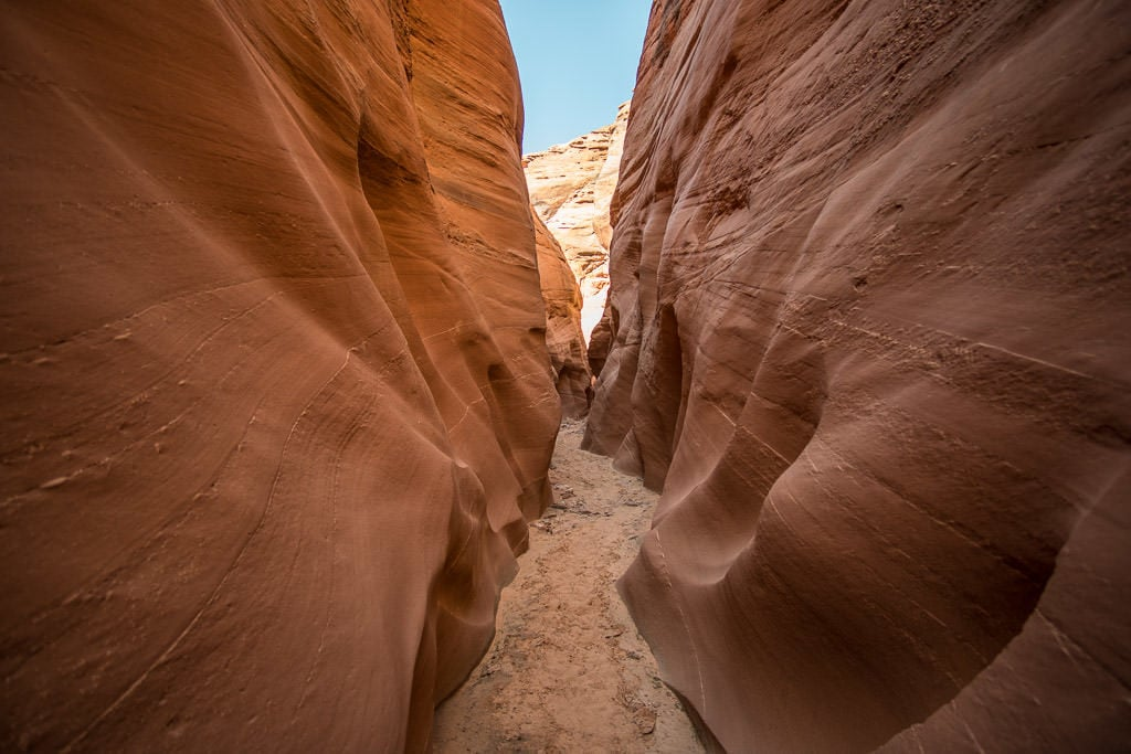 Narrow section of Antelope Canyon we hiked after paddleboarding