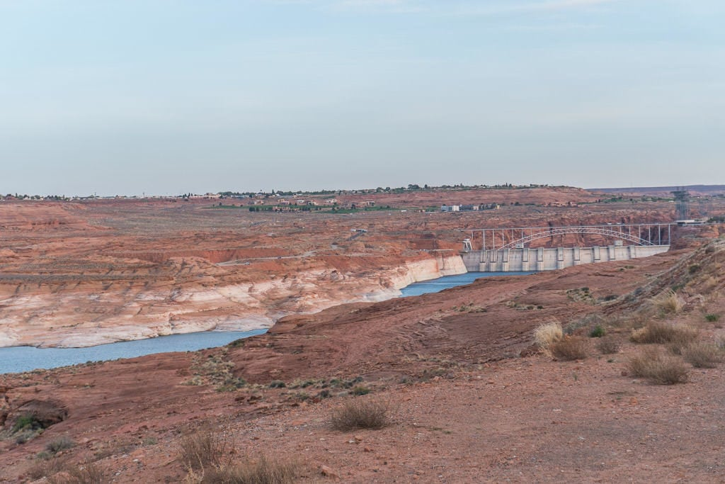Glen Canyon Dam from a lookout