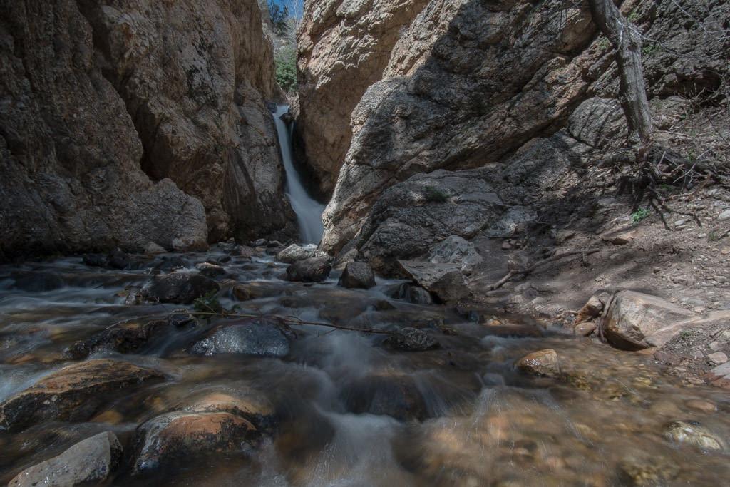 Hidden Falls waterfall, just a short hike from a parking area