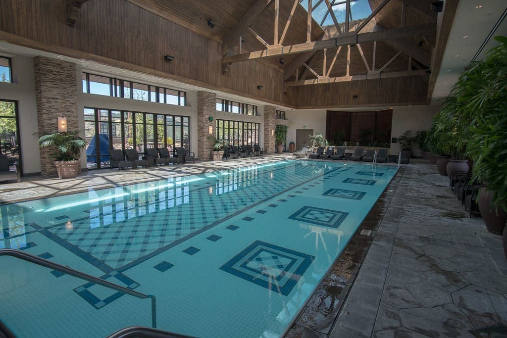 Indoor roof-top pool at the Ameristar Black Hawk Resort