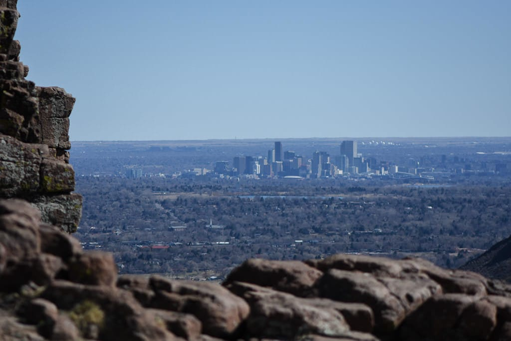 Denver Skyline from a hiking trail