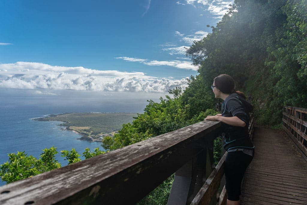 view from trail to Kalaupapa in Molokai
