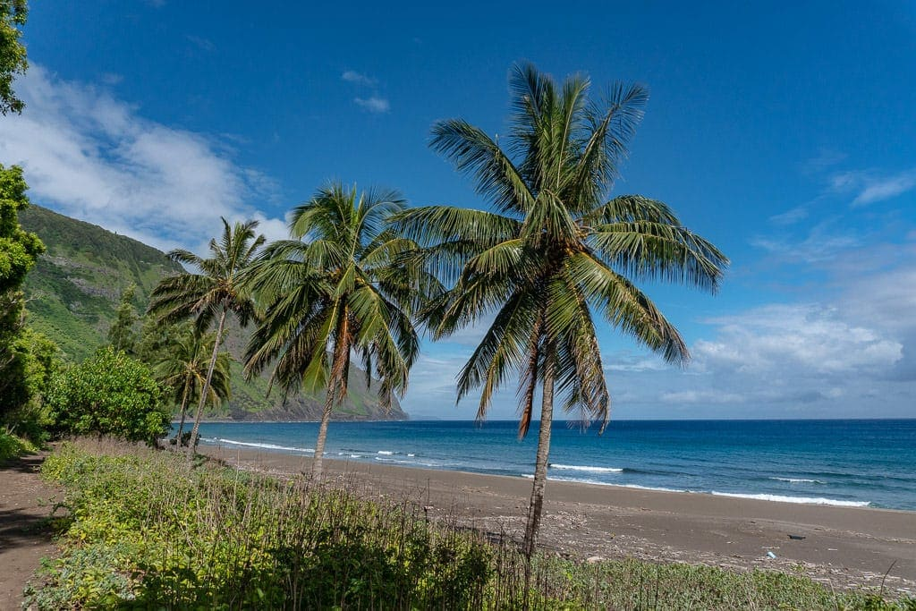 beach views after hiking to Kalaupapa in Molokai