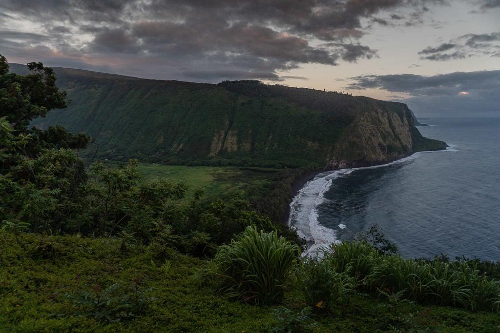 views from waipi'o valley on big island hawaii