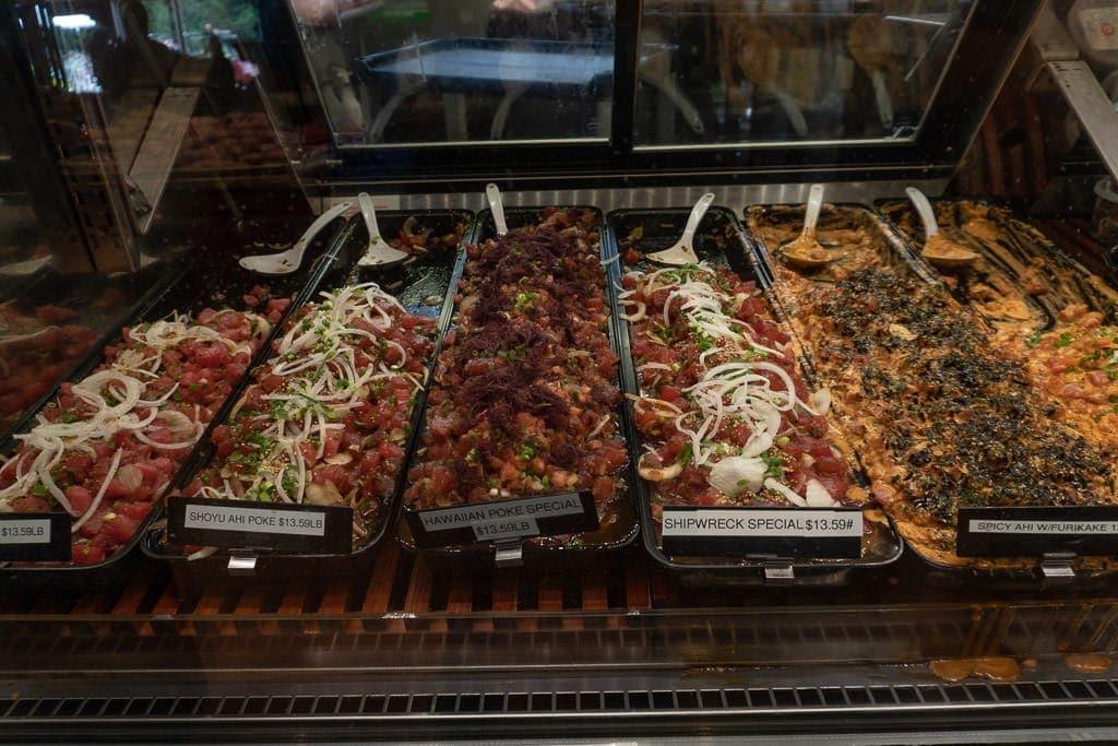 lanai poke options at richard's market