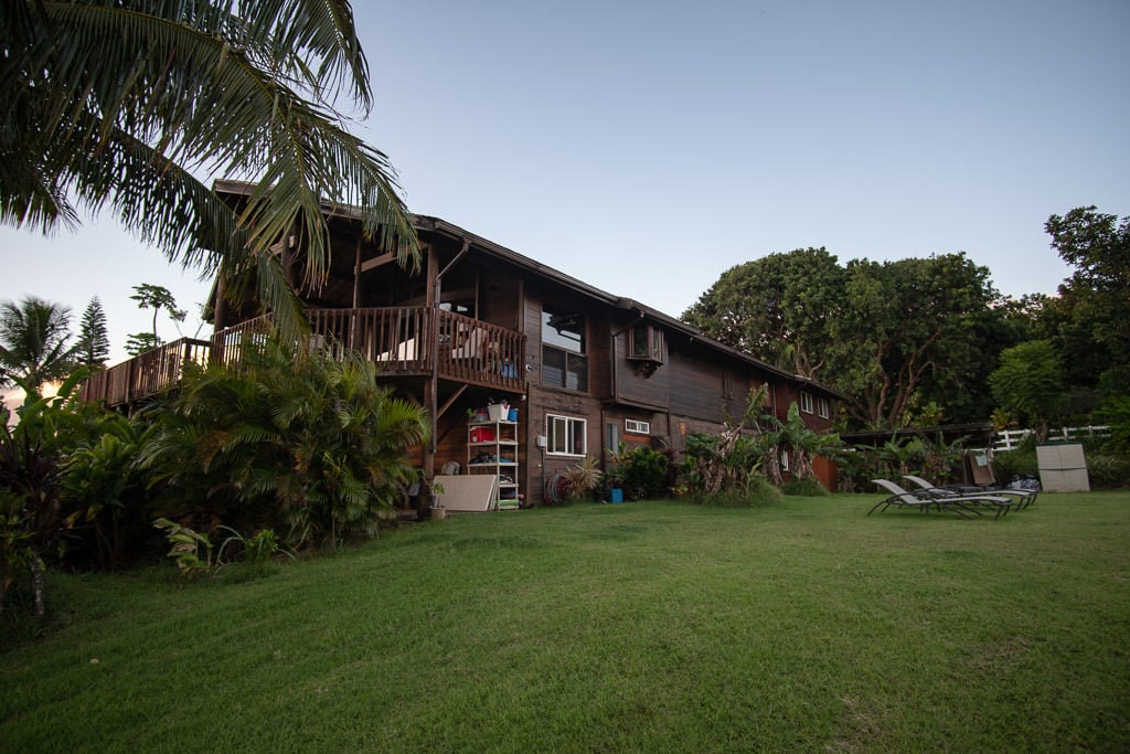 The main house at Peace of Maui that we used as our base for our 3 epic Maui Drives