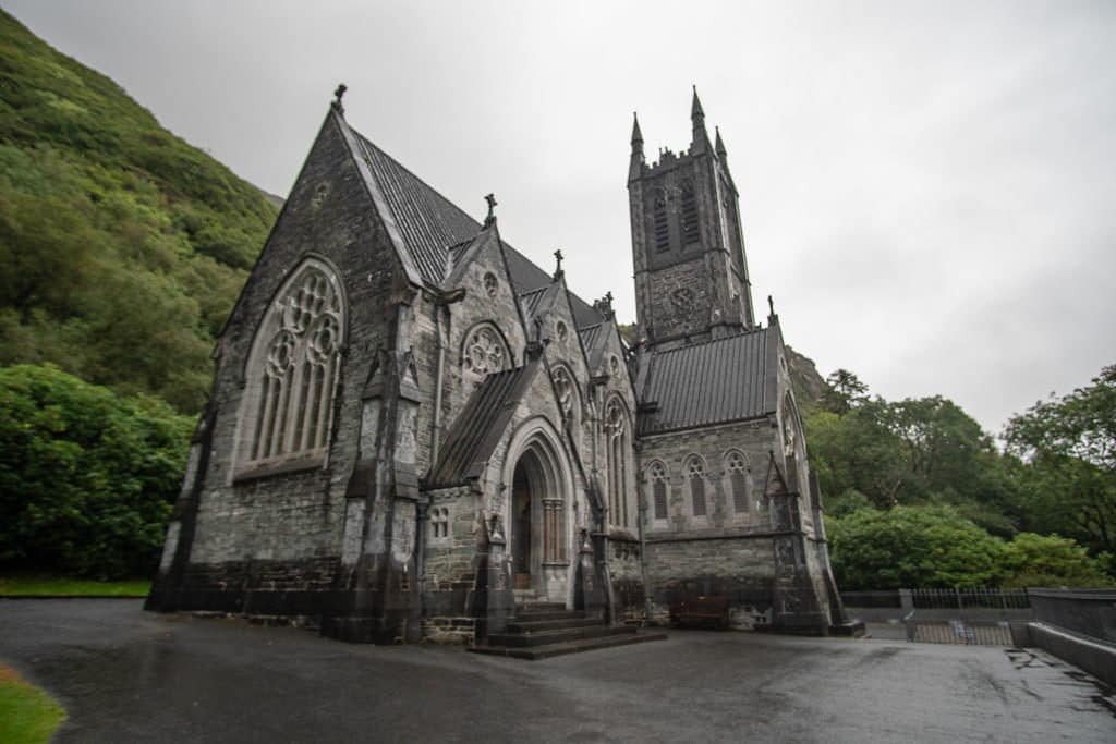 The neo-gothic church a short walk away from Kylemore Abbey