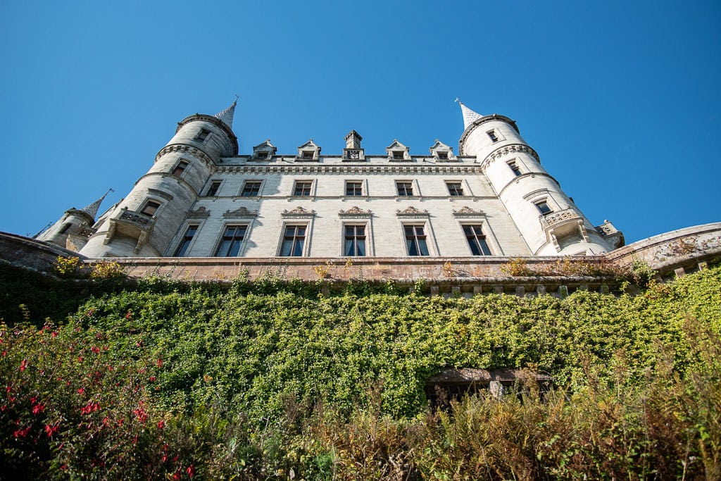 Looking up towards Dunrobin Castle from the Castle Grounds