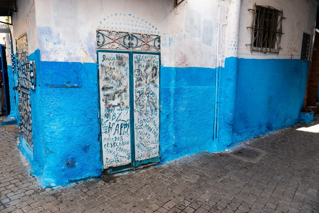 colorful streets in tangier on a day trip to Morocco