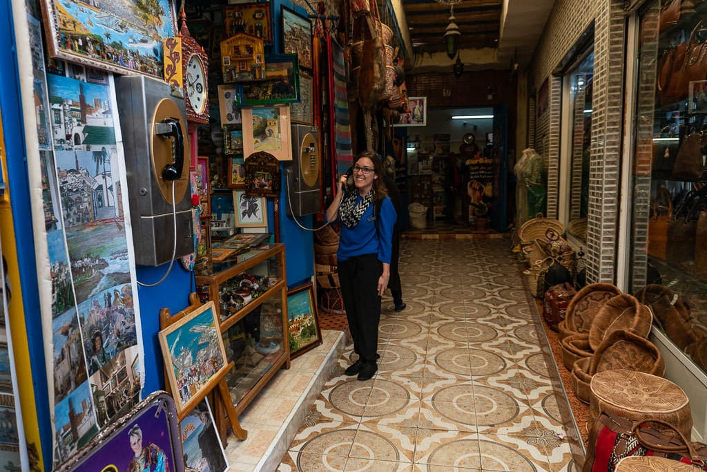 exploring the markets during a day trip to Morocco from spain