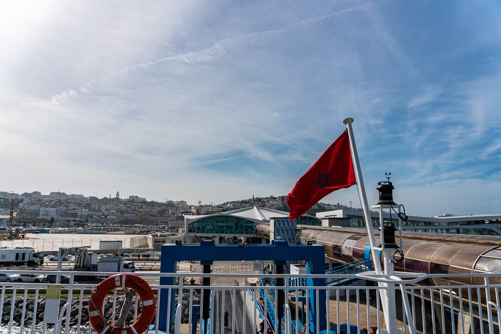 Taking the ferry back from Morocco to Spain after a great Tangier tour during our day trip to Morocco
