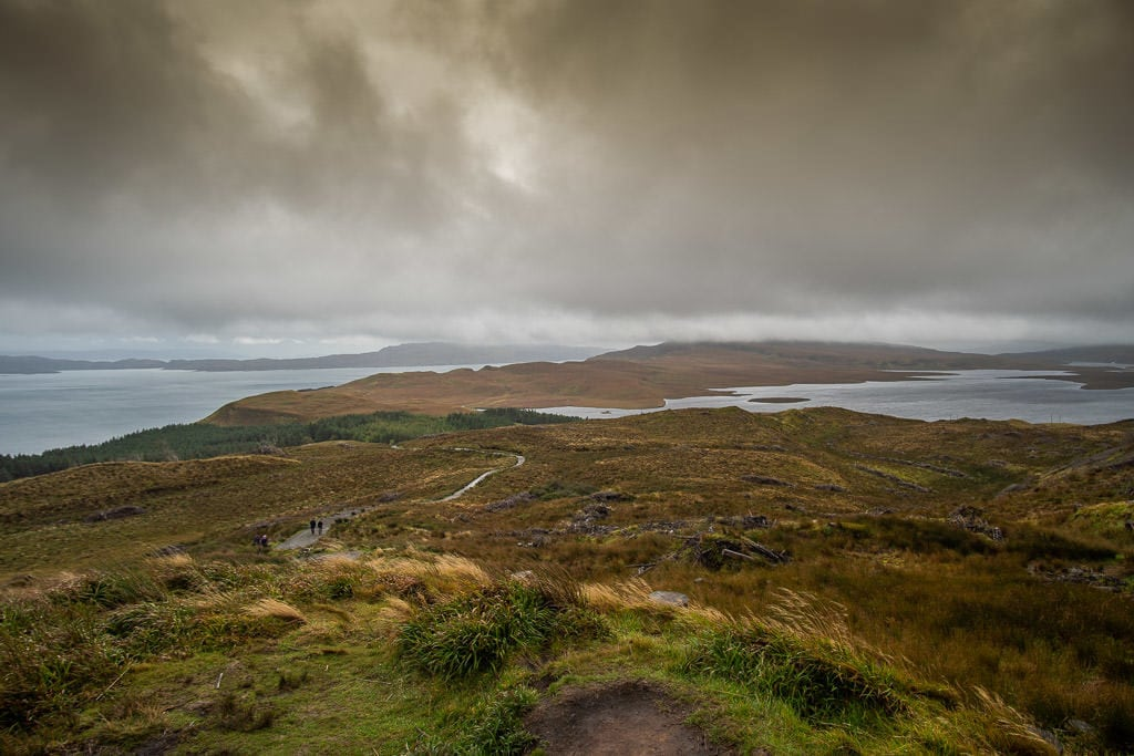 Amazing view from the midway point up the Old Man of Storr walk