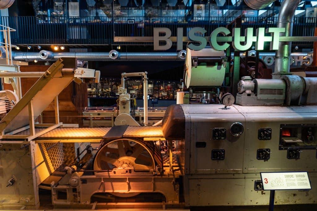 biscuit making machine at zaans museum in zaanse schans on day trip from amsterdam