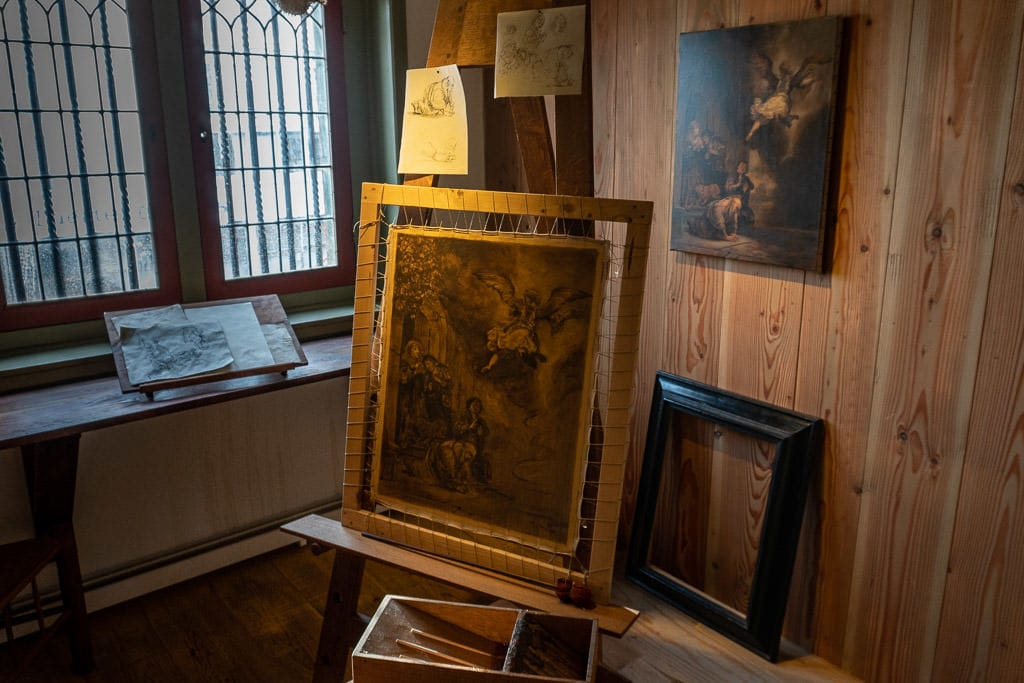 painting at Rembrandt's House in amsterdam