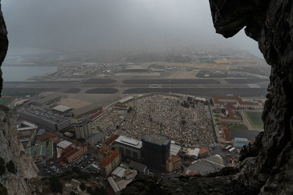 view of gibraltar from Great Siege Tunnels