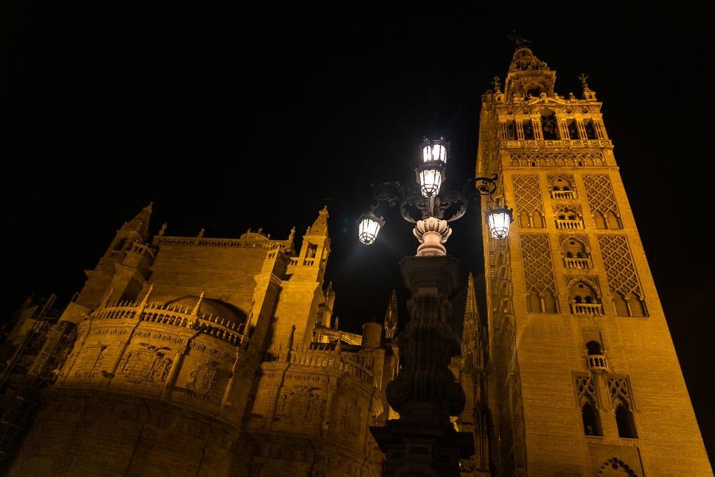 sevilla spain at night
