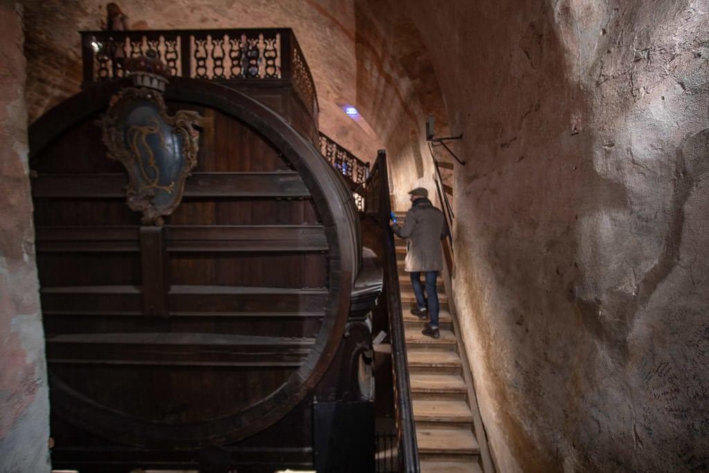 giant wine barrel in heidelberg castle in germany