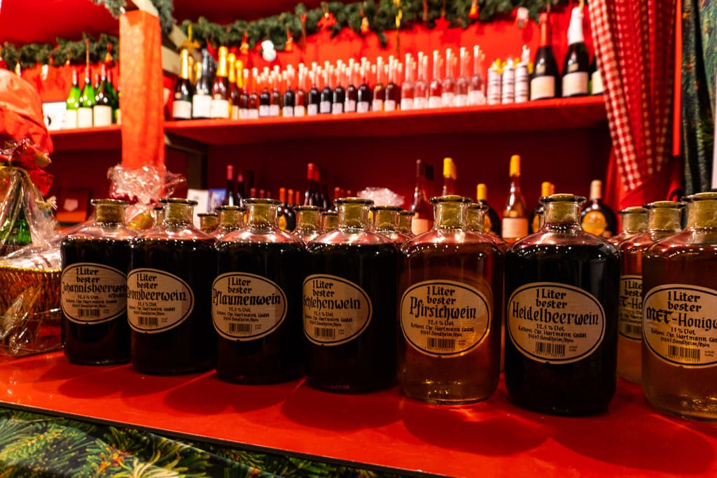 wines for sale in rothenburg christmas market