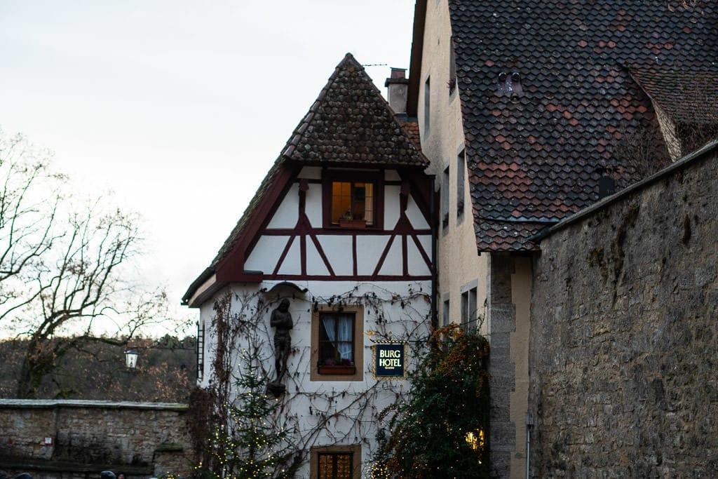 burg hotel in rothenburg germany