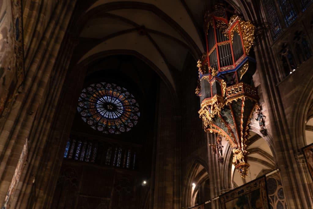 inside strasbourg cathedral in france
