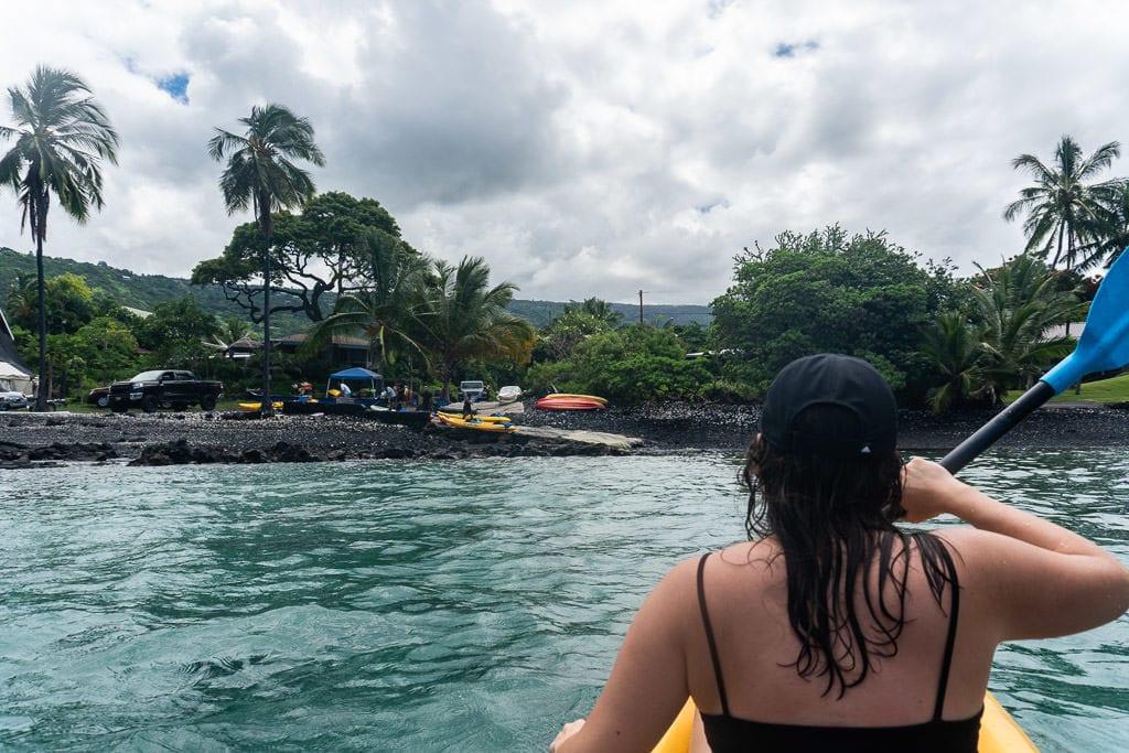 big island kayaking with wild dolphins and snorkeling kona bayside adventures