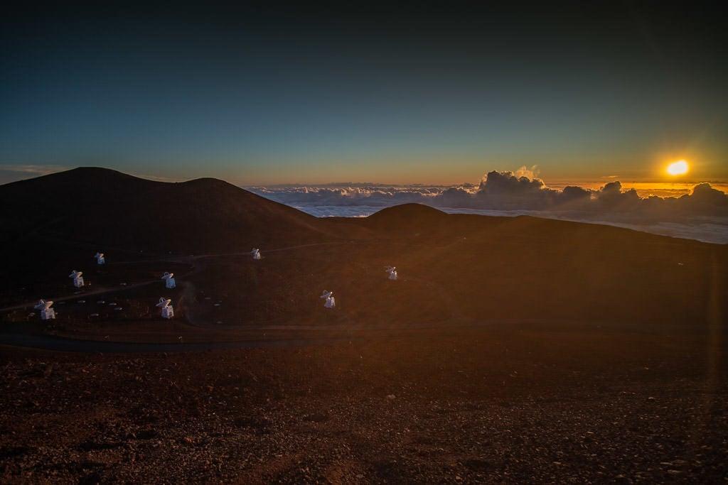 mauna kea summit sunset