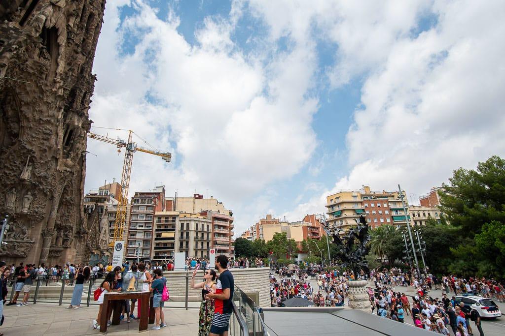 barcelona layover - sagrada familia